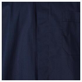 Chemise clergy In Primis élastique coton demi-manches bleue s2