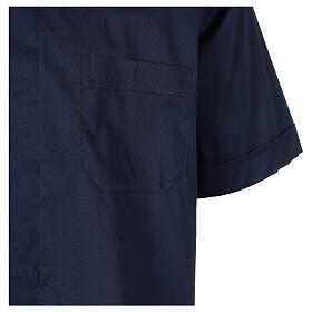 Chemise clergy In Primis élastique coton demi-manches bleue s4