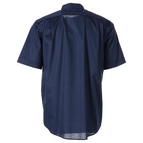 Chemise clergy In Primis élastique coton demi-manches bleue s6