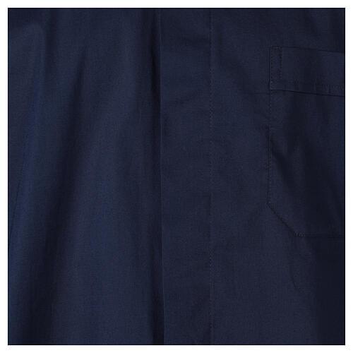 Chemise clergy In Primis élastique coton demi-manches bleue 2