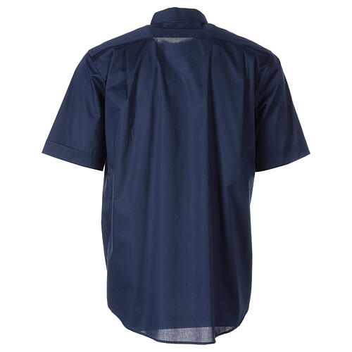 Chemise clergy In Primis élastique coton demi-manches bleue 6