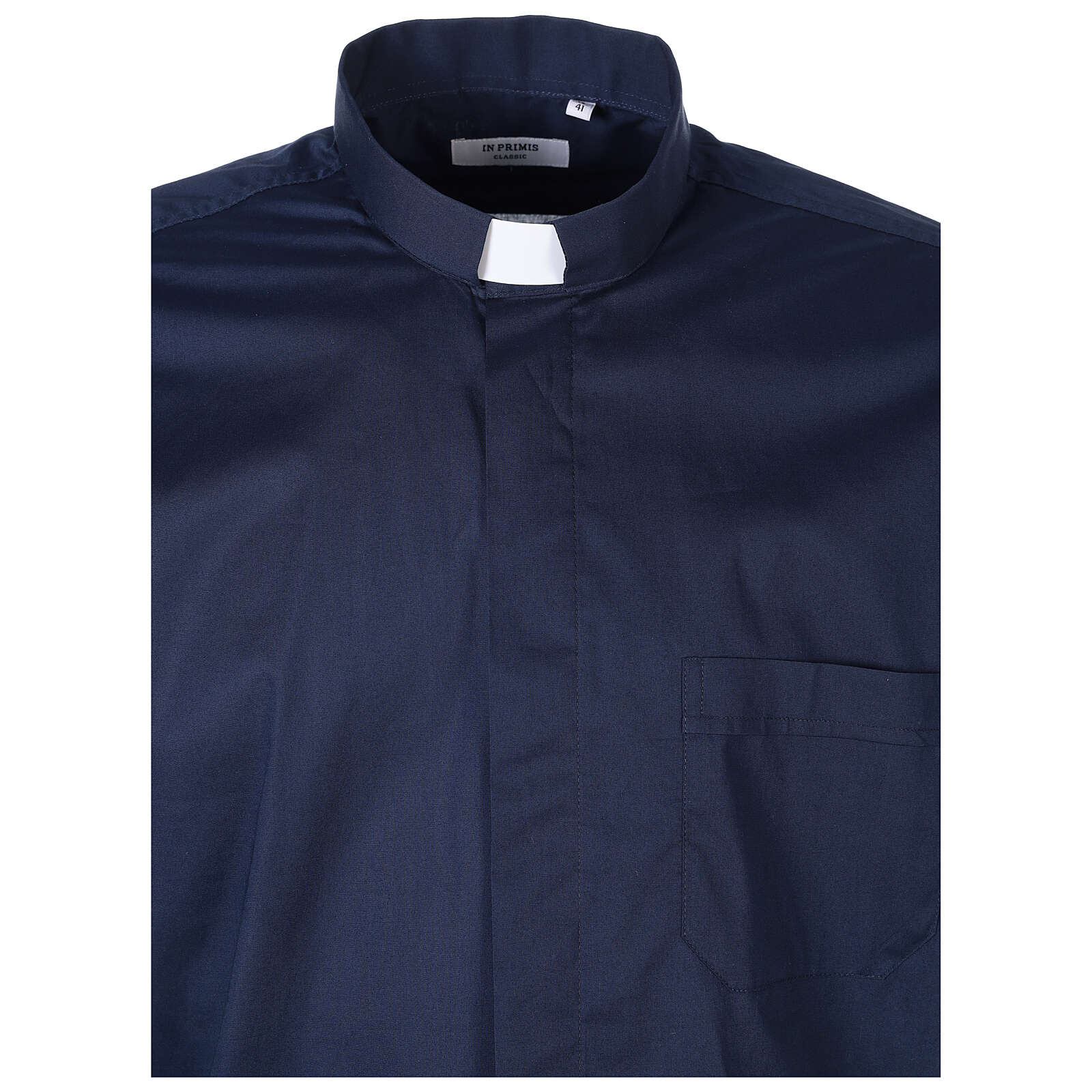 Camicia In Primis elasticizzata cotone m. corta blu 4