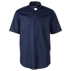 Camicia In Primis elasticizzata cotone m. corta blu s1