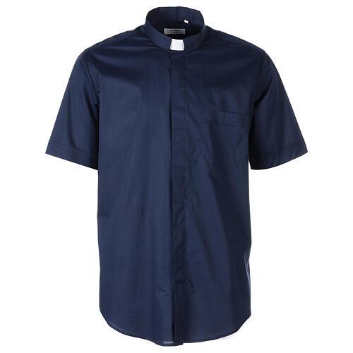 Camicia In Primis elasticizzata cotone m. corta blu 1