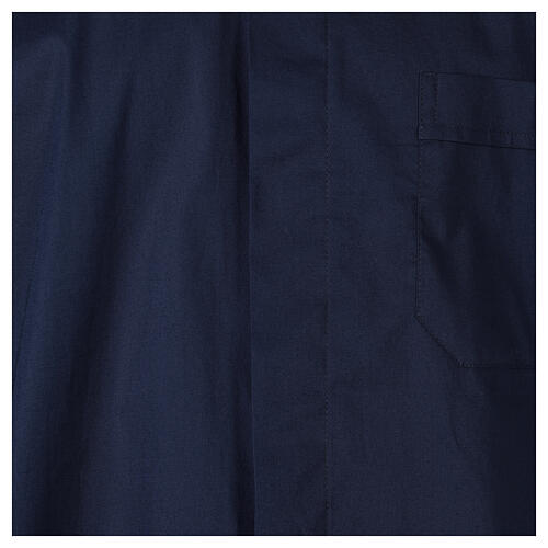 Camicia In Primis elasticizzata cotone m. corta blu 2