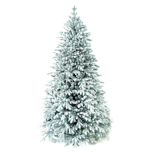Árvore de Natal artificial 210 cm Poly flocado Castor Winter Woodland 1