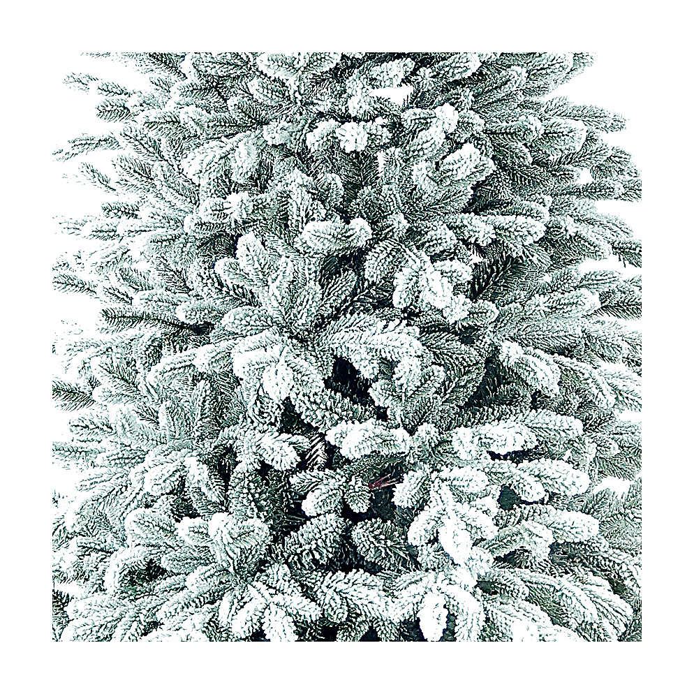 Árvore de Natal artificial 225 cm Poly flocado Castor Winter Woodland 3