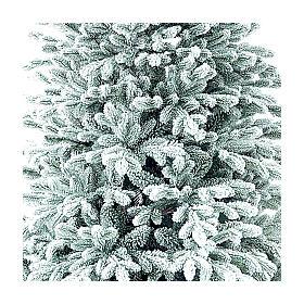 Árvore de Natal artificial 225 cm Poly flocado Castor Winter Woodland s2
