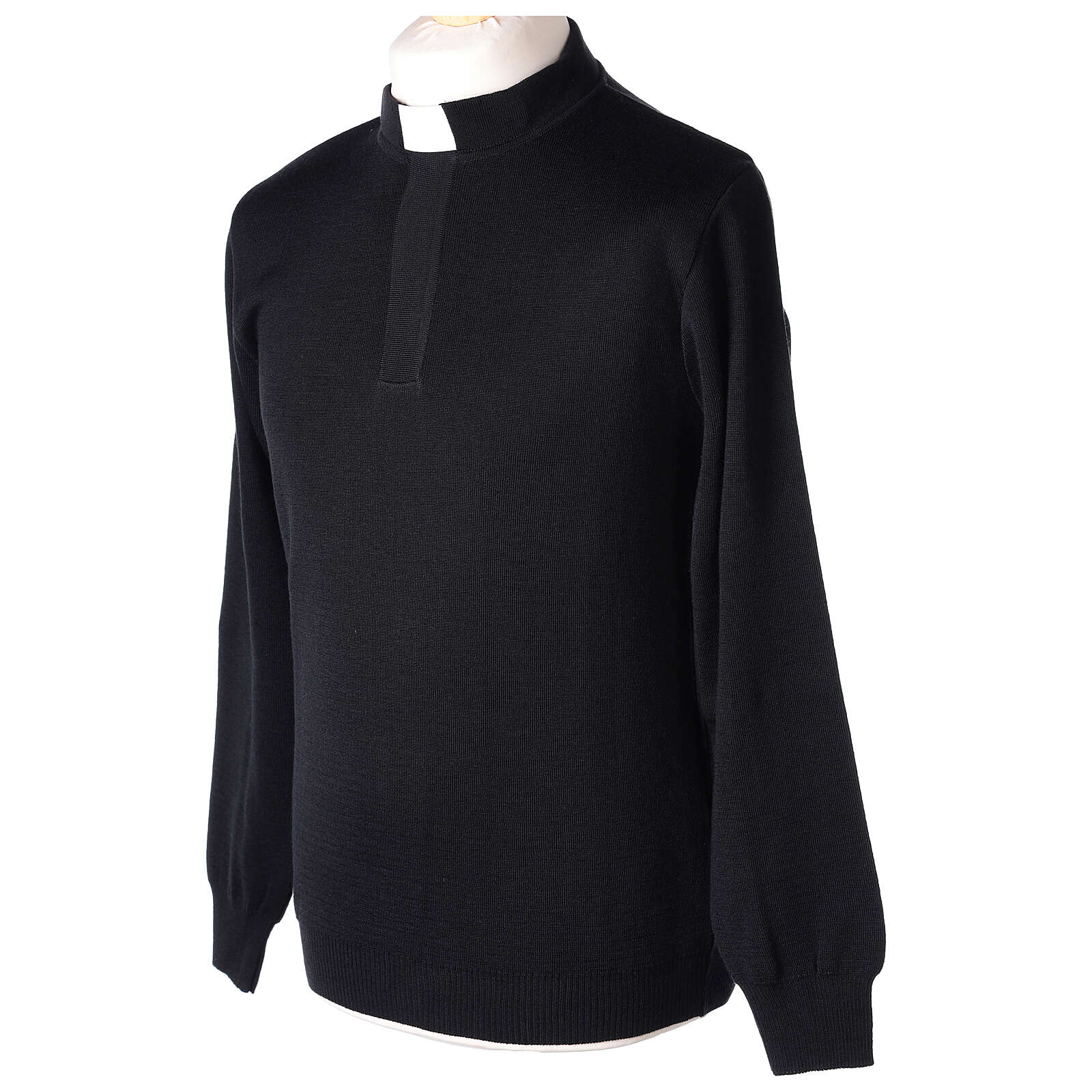 Jersey clergy negro 50% merina 50% acrílico In Primis 4