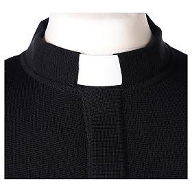 Maglioncino clergy nero 50% merino 50% acrilico In Primis s2