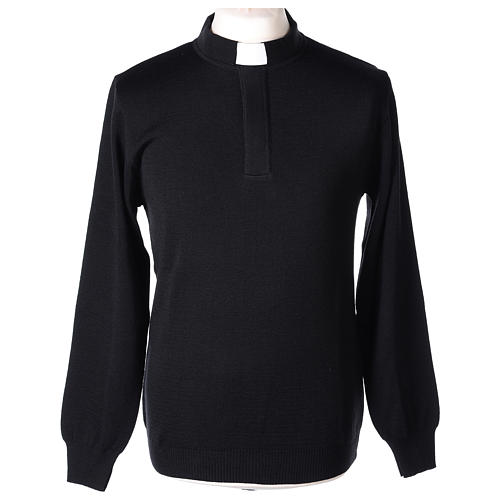 Maglioncino clergy nero 50% merino 50% acrilico In Primis 1