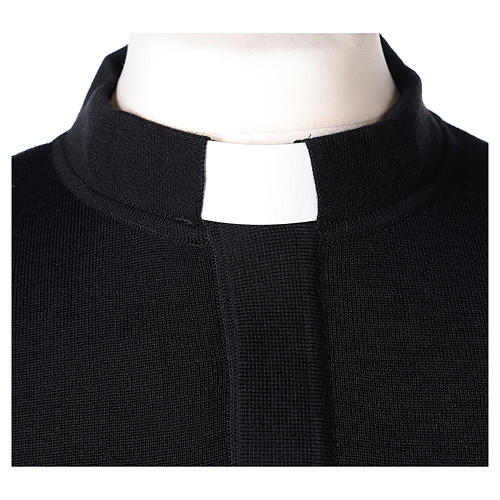 Maglioncino clergy nero 50% merino 50% acrilico In Primis 2