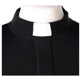 Pulôver sacerdote preto 50% lã de merino 50% acrílico In Primis s2