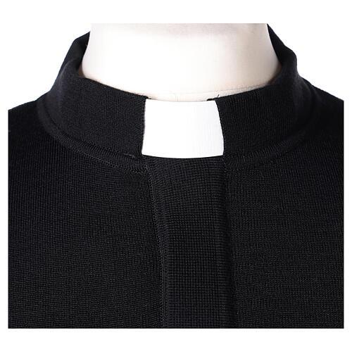 Pulôver sacerdote preto 50% lã de merino 50% acrílico In Primis 2