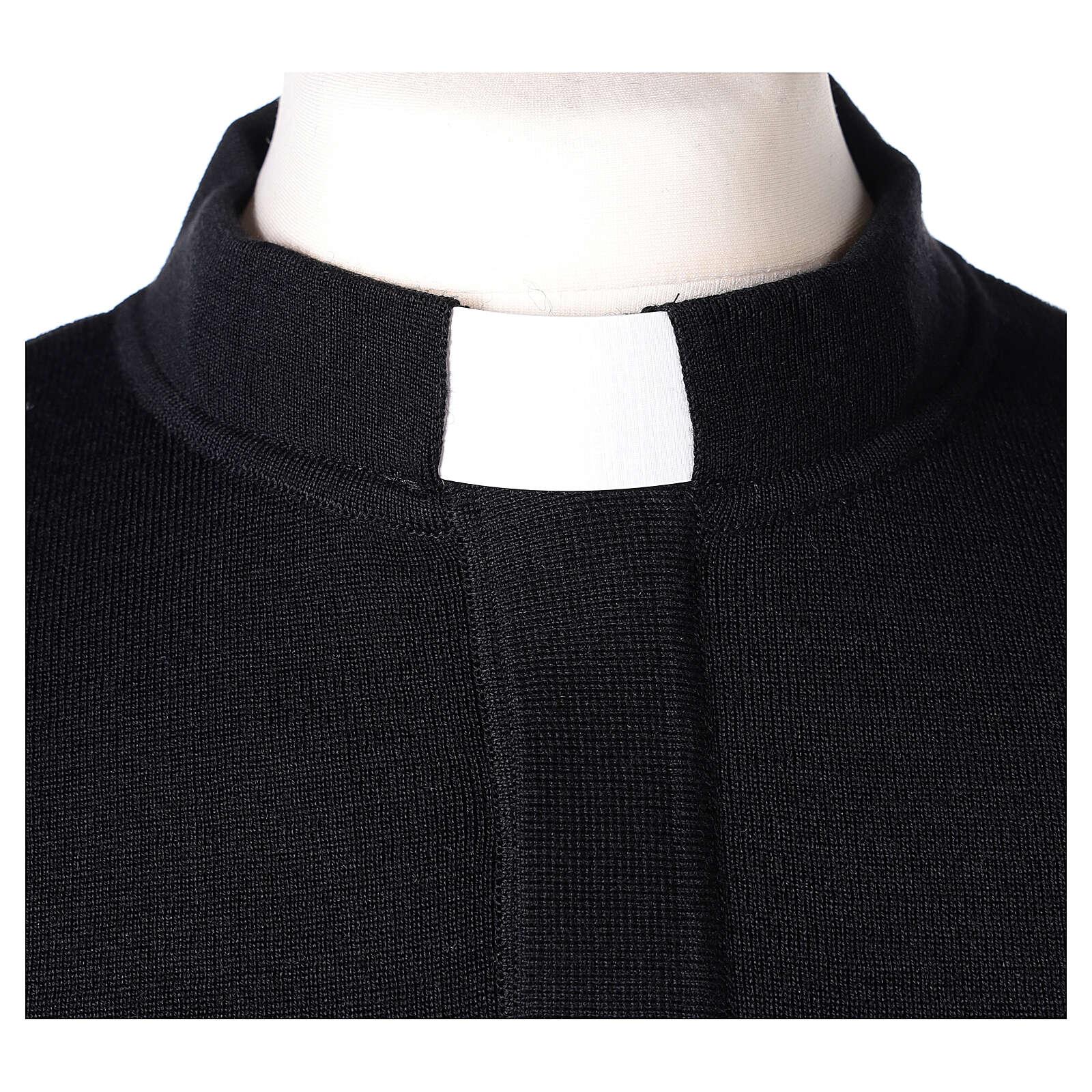 Black clergy jumper 50% merino wool 50% acrylic In Primis 4