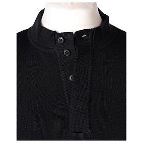 Black clergy jumper 50% merino wool 50% acrylic In Primis s4
