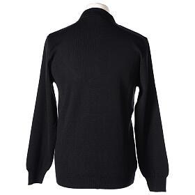 Black clergy jumper 50% merino wool 50% acrylic In Primis s5