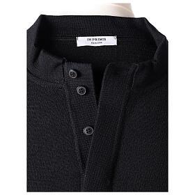 Black clergy jumper 50% merino wool 50% acrylic In Primis s6
