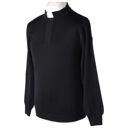 Black clergy jumper 50% merino wool 50% acrylic In Primis 3
