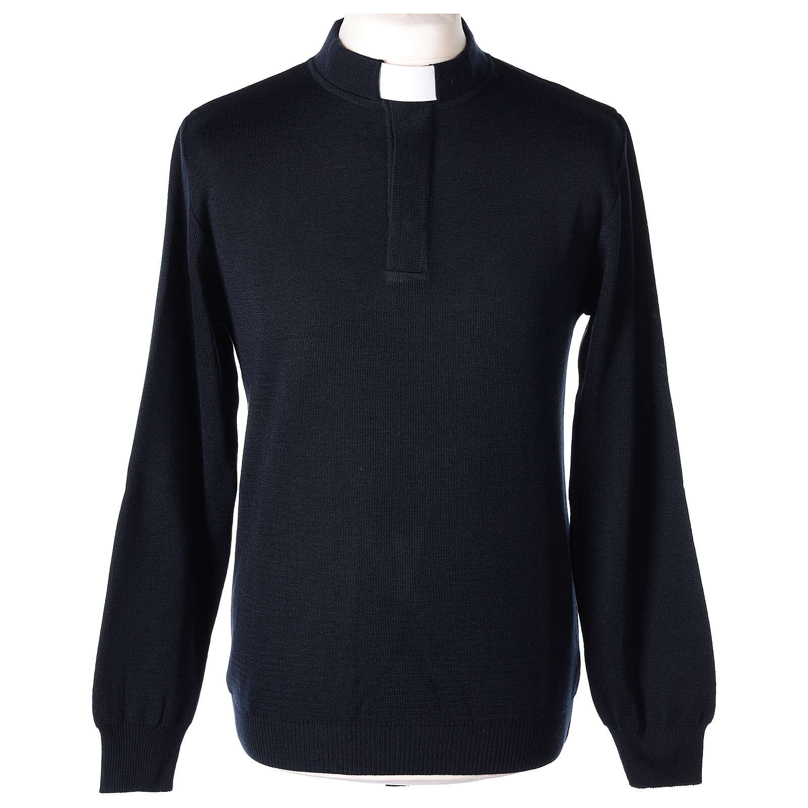 Jersey clergy azul 50% merina 50% acrílico In Primis 4