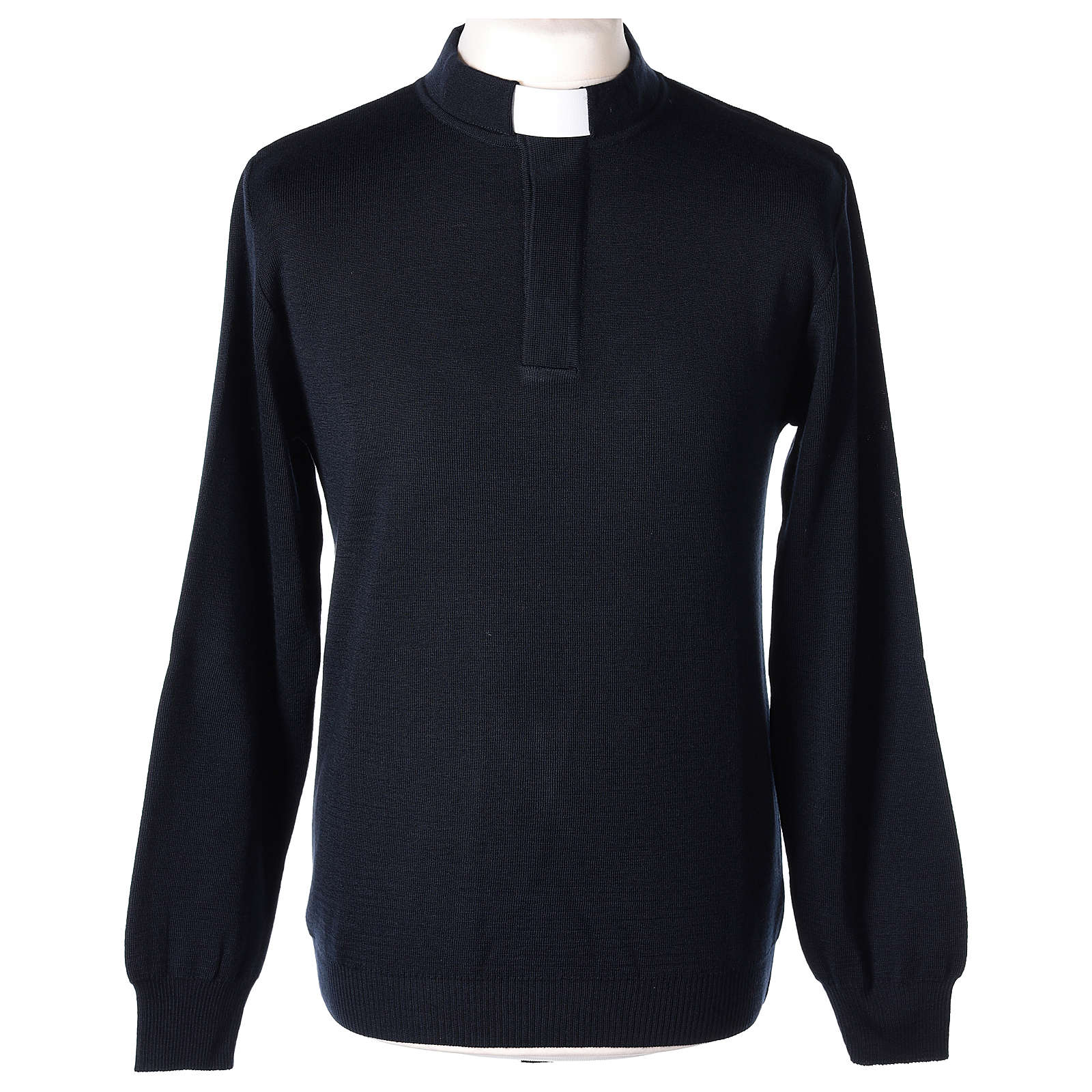 Pull clergy bleu 50% mérinos 50% acrylique In Primis 4