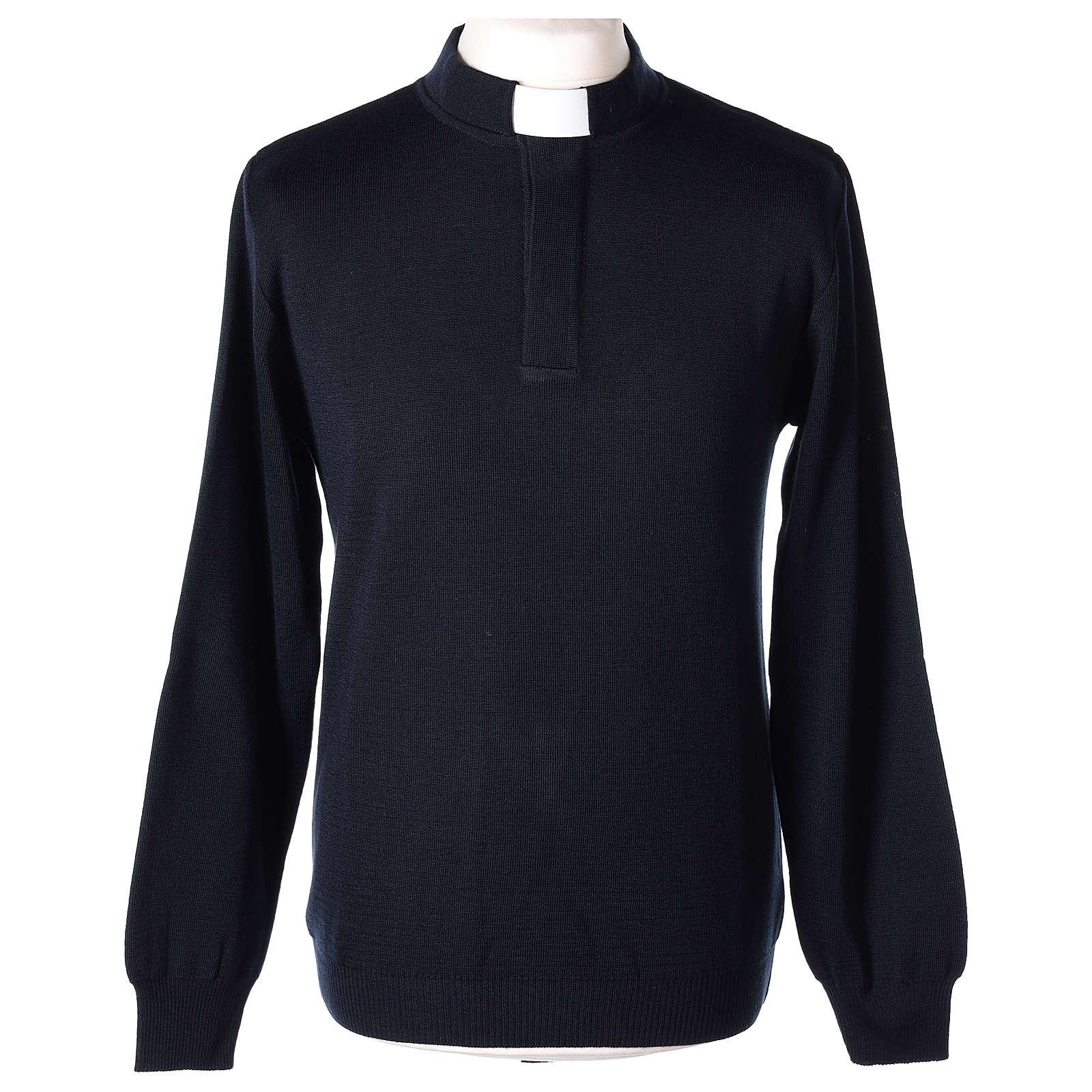 Maglioncino clergy blu 50% merino 50% acrilico In Primis 4