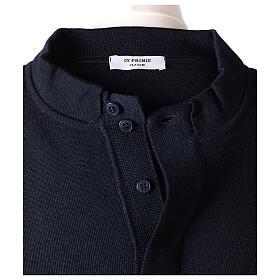 Sweter kapłański granatowy 50% merynos 50% akryl In Primis s6