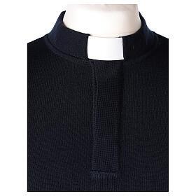 Pulôver sacerdote azul escuro 50% lã de merino 50% acrílico In Primis s2
