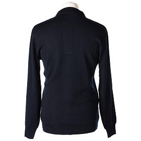 Pulôver sacerdote azul escuro 50% lã de merino 50% acrílico In Primis s5