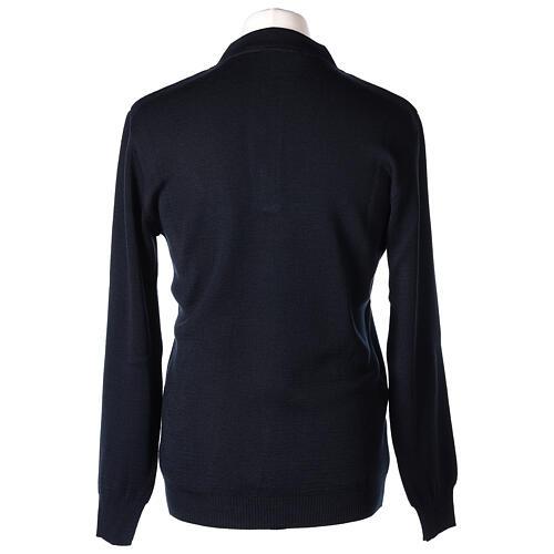 Pulôver sacerdote azul escuro 50% lã de merino 50% acrílico In Primis 5