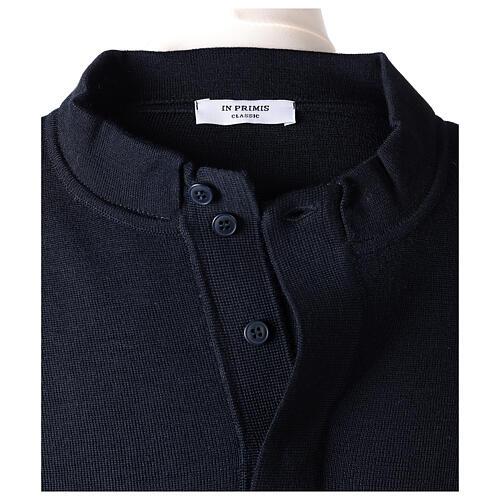Pulôver sacerdote azul escuro 50% lã de merino 50% acrílico In Primis 6