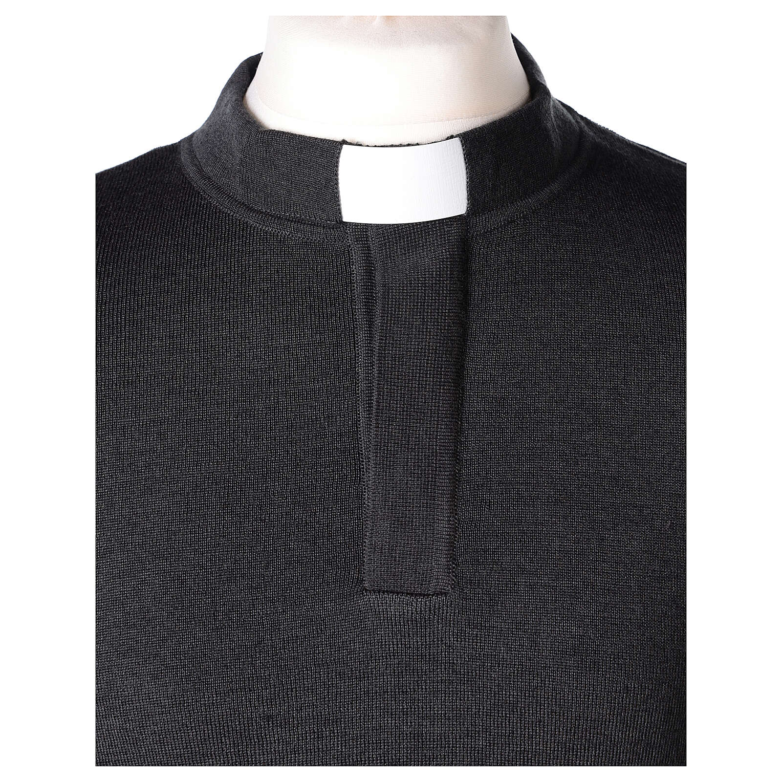 Grey clergy jumper 50% merino wool 50% acrylic In Primis 4
