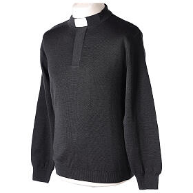 Grey clergy jumper 50% merino wool 50% acrylic In Primis s3