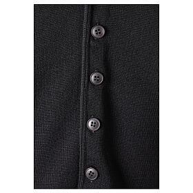 Chaleco sacerdote negro de punto 50% lana merina 50% acrílico In Primis s4