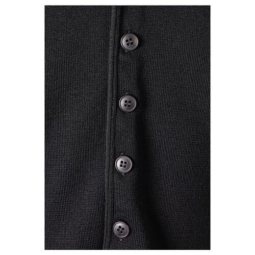 Chaleco sacerdote negro de punto 50% lana merina 50% acrílico In Primis 4