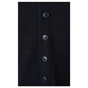 Clergy sleeveless blue cardigan 50% merino wool 50% acrylic In Primis s4