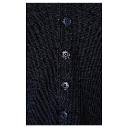 Clergy sleeveless blue cardigan 50% merino wool 50% acrylic In Primis 4