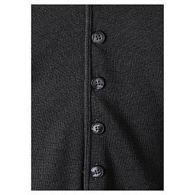 Gilet prêtre gris anthracite avec boutons 50% laine mérinos 50% acrylique In Primis s4