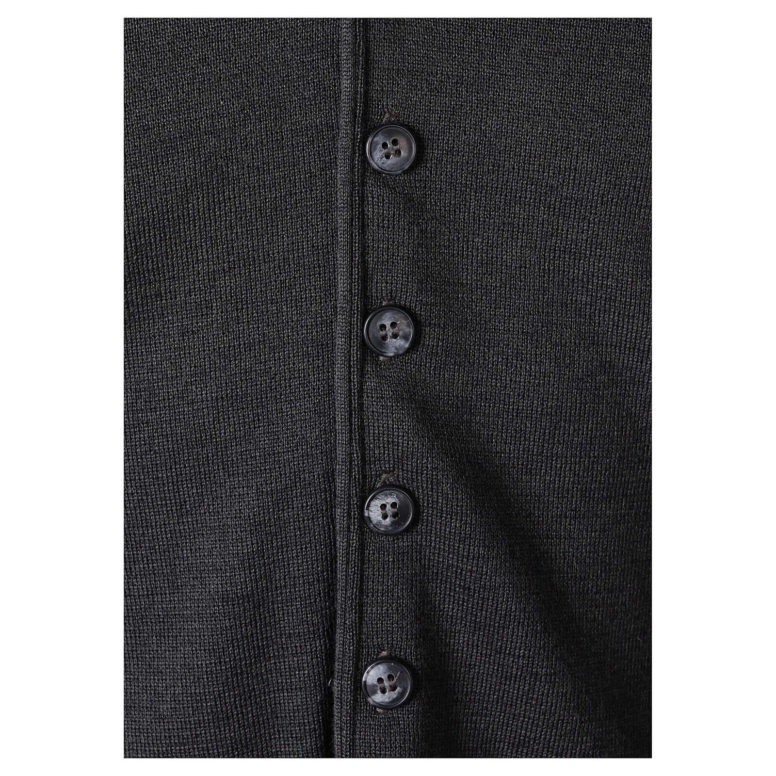 Clergy sleeveless grey cardigan 50% merino wool 50% acrylic In Primis 4