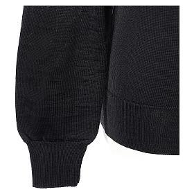 Pull prêtre col en V noir jersey simple In Primis s4