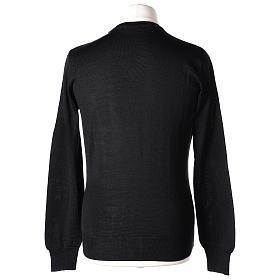 Pull prêtre col en V noir jersey simple In Primis s5