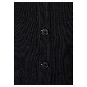 Gilet prêtre noir avec poches et boutons In Primis s4