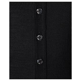 Chaqueta sacerdote negra punto al derecho 50% acrílico 50% lana merina In Primis s4