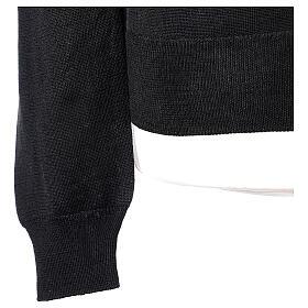Chaqueta sacerdote negra punto al derecho 50% acrílico 50% lana merina In Primis s5