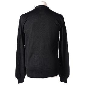 Chaqueta sacerdote negra punto al derecho 50% acrílico 50% lana merina In Primis s6