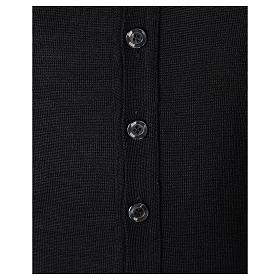 Gilet prêtre noir jersey simple 50% acrylique 50% laine mérinos In Primis s4