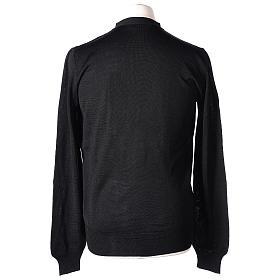 Gilet prêtre noir jersey simple 50% acrylique 50% laine mérinos In Primis s6