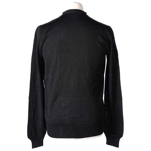 Gilet prêtre noir jersey simple 50% acrylique 50% laine mérinos In Primis 6