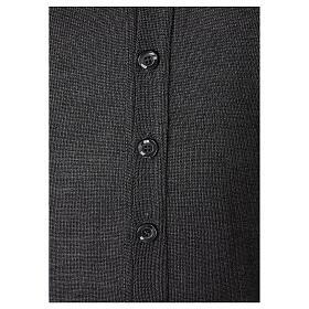 Chaqueta sacerdote gris antracita botones punto al derecho 50% acrílico 50% lana merina In Primis s4