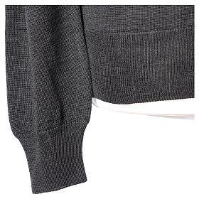 Gilet prêtre gris jersey simple 50% acrylique 50% laine mérinos In Primis s5